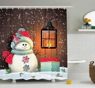 Garden with Gift Box Shower Curtain