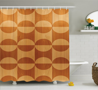 Abstract Oak Planks Shower Curtain