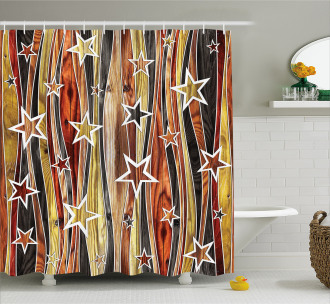 Charming Stars Art Shower Curtain
