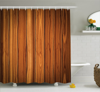 Wooden Planks Image Shower Curtain