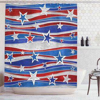 Abstract USA Flag Shower Curtain