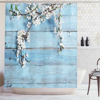 Spring Flowers Branches Shower Curtain