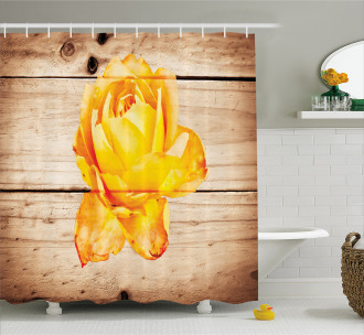 Rose Petals and Flowers Shower Curtain