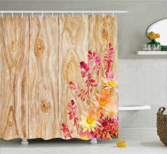 Spring Florals Daisies Shower Curtain
