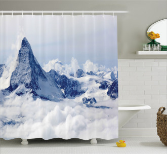 Clouds on Summit Winter Shower Curtain