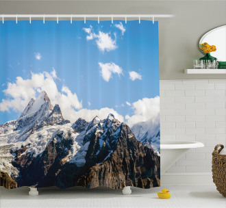 Mountain Natural Beauty Shower Curtain