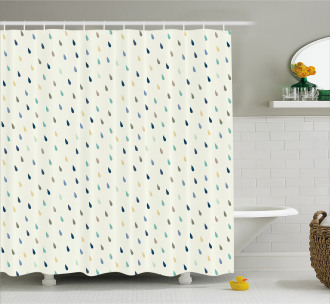 Colorful Droplet Pattern Shower Curtain