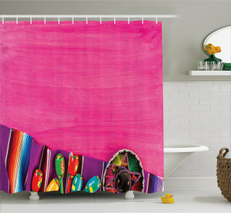 Folkloric Serape Blanke Shower Curtain