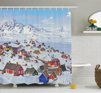 Frozen Winter Design Shower Curtain