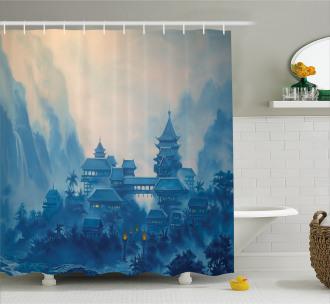 Chinese Night Shower Curtain