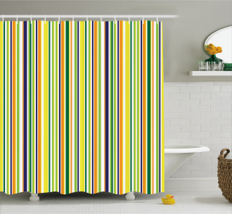 Vibrant Lines Pattern Shower Curtain