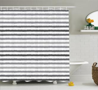 Gray and White Grunge Shower Curtain
