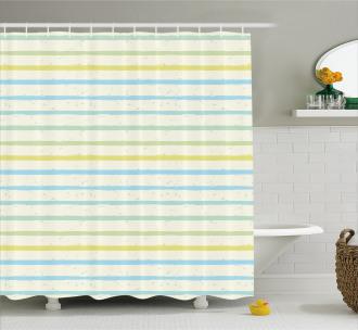 Grunge Pastel Pattern Shower Curtain