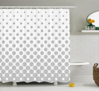 Spiraling Dots Shower Curtain