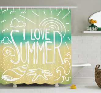 Motivational Sun Quote Shower Curtain