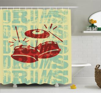 Groovy Rock Music Vibe Shower Curtain
