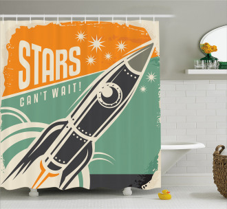 Stars Quotation Shower Curtain