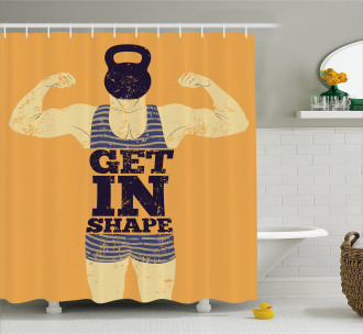 Bodybuilding Sports Shower Curtain