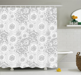 Rose Petals Floret Shower Curtain