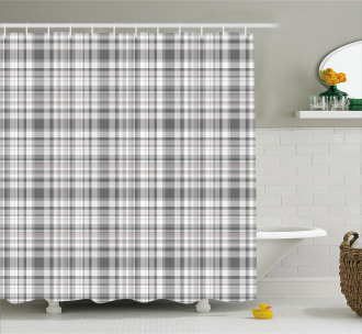 Vertical Line Square Shower Curtain
