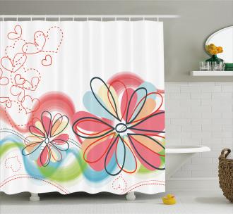 Cute Floral Haze Shower Curtain
