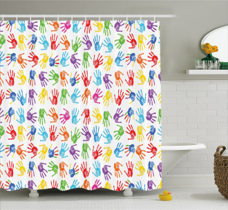 Watercolor Kids Shower Curtain