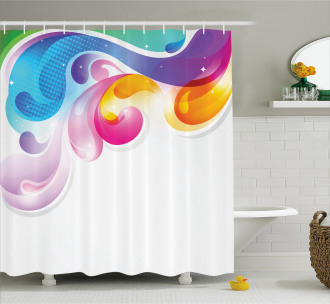 Abstract Paintbrush Shower Curtain