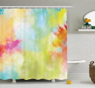 Cloudy Milky Way Boho Shower Curtain