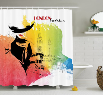 London Fashion Lady Shower Curtain