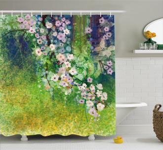 Grass Land Paint Shower Curtain
