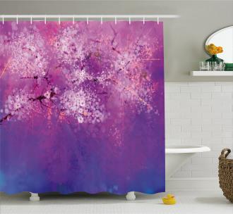Hazy Romantic Paint Shower Curtain