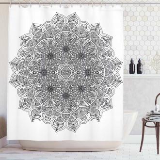 Mandala Floral Shower Curtain