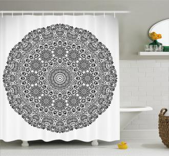 Mandala Lace Art Shower Curtain