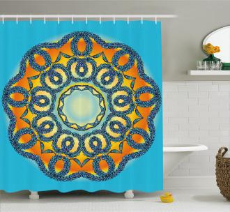 Ethnic Mandala Floral Shower Curtain