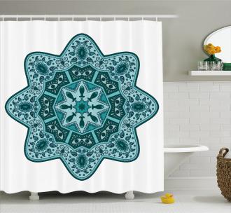 Eastern Chinese Mandala Shower Curtain