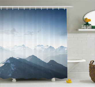 Foggy Morning Mountain Shower Curtain
