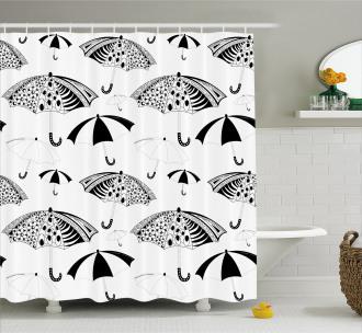 Ornate Umbrellas Shower Curtain