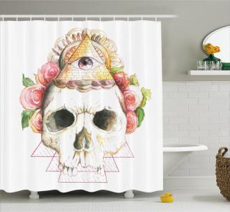 Sacred Eye Sign Shower Curtain