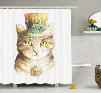 Watercolor Effect Animal Shower Curtain