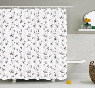 Skull Patterns Grunge Shower Curtain