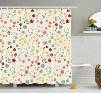 Retro Colorful Art Shower Curtain