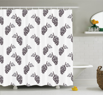 Sketchy Summer Fruits Shower Curtain