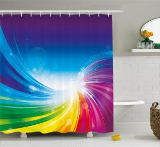 Wavy Funky Pop Art Shower Curtain