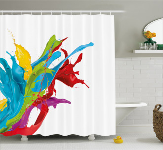Surreal Digital Paint Shower Curtain