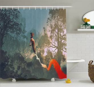 Cycle Bike Park Extreme Shower Curtain