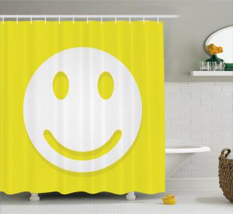 Positive Smiley Face Shower Curtain