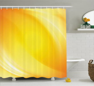 Yellow Lines Ombre Shower Curtain