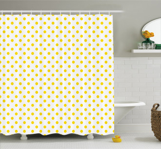 Picnic Yellow Spots Shower Curtain