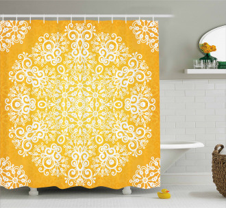 Floral Snowflakes Shower Curtain