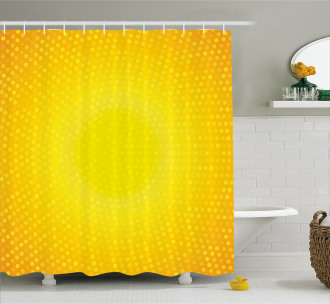 Yellow Ombre Circles Shower Curtain